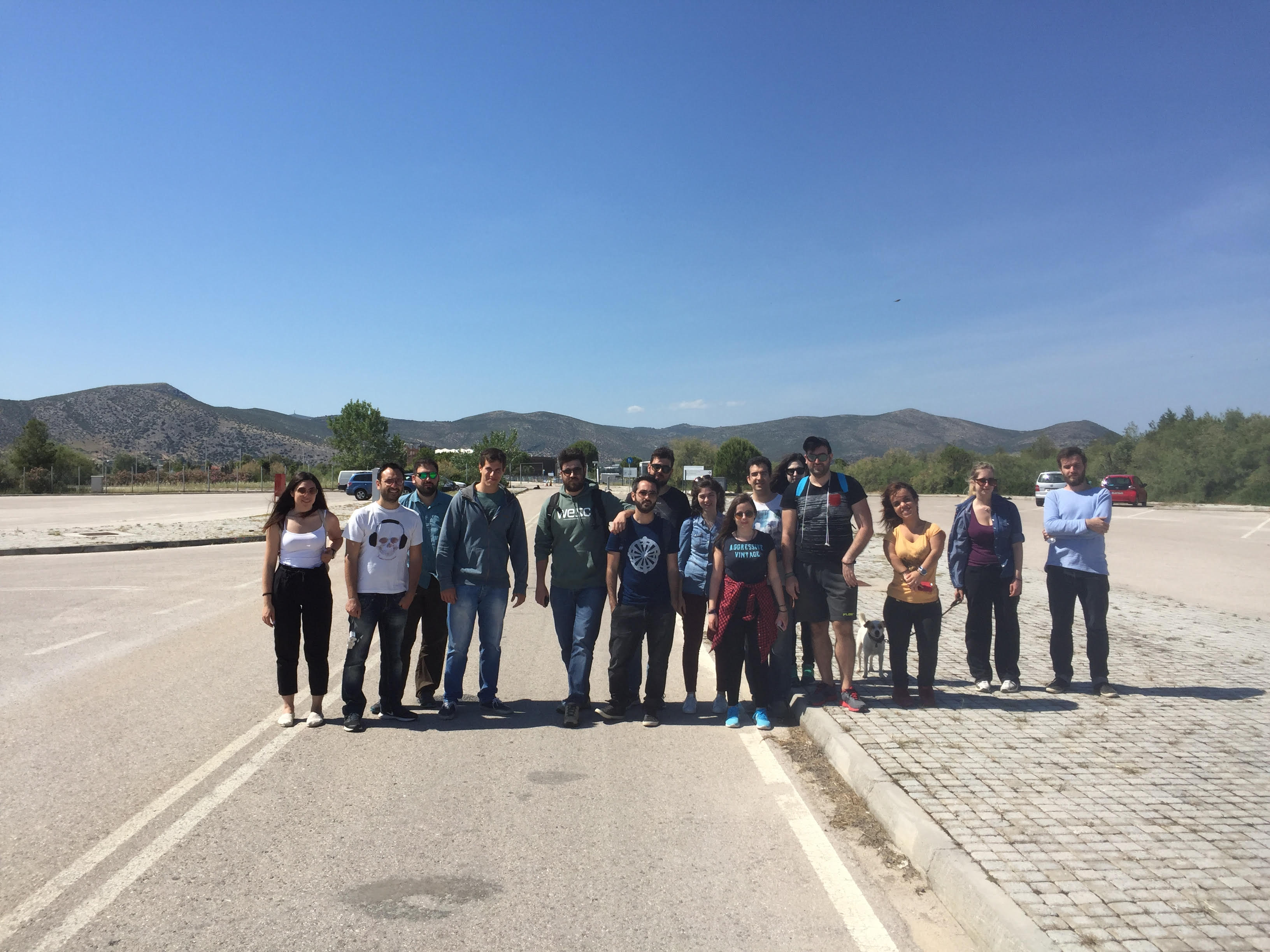 Field visits of NTUA students in Schinias pilot (Greece)