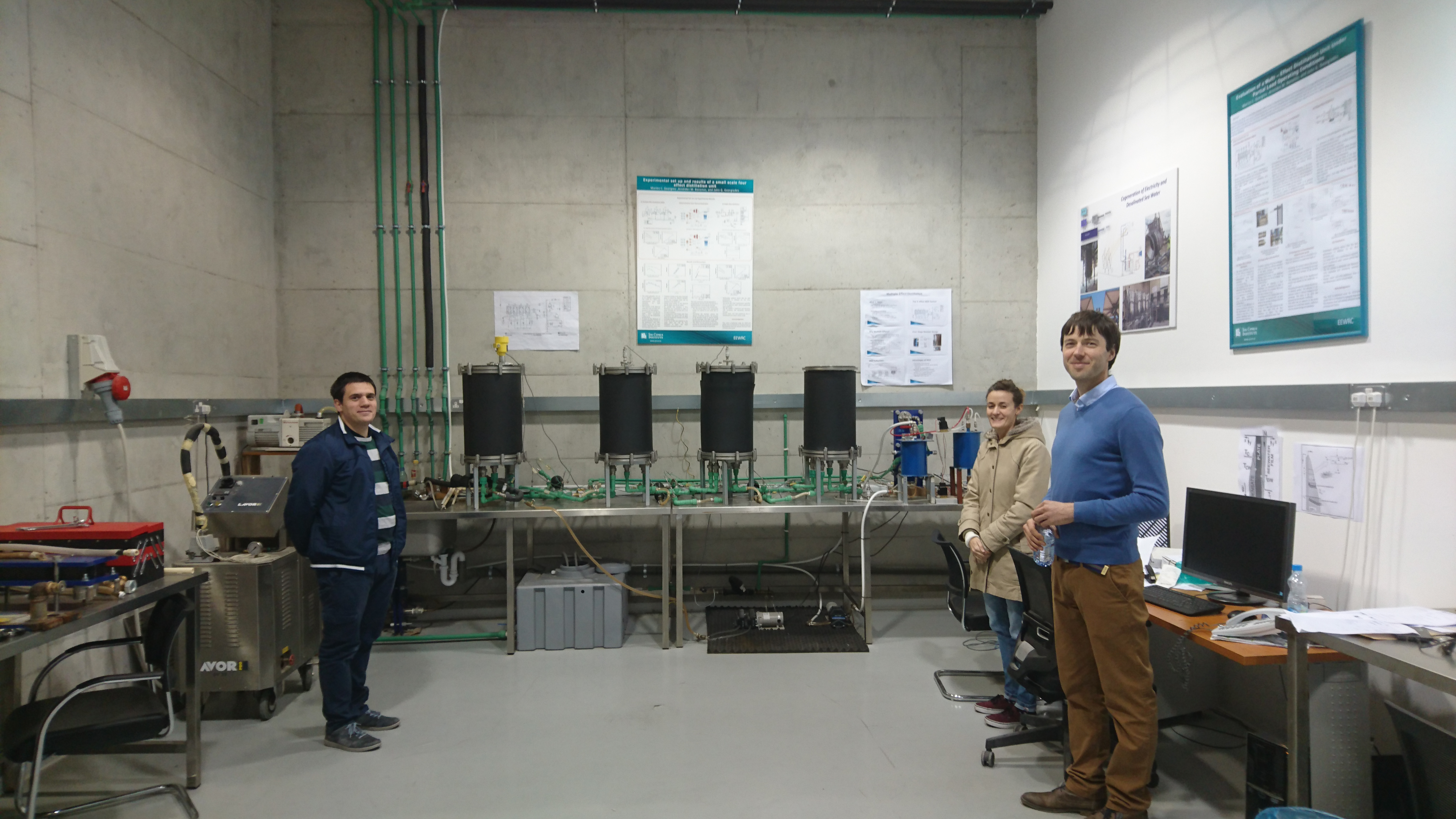 Cyprus institute thermal desalination laboratory