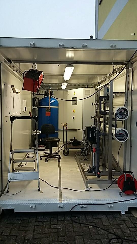 Figure 2. Water processing unit inside